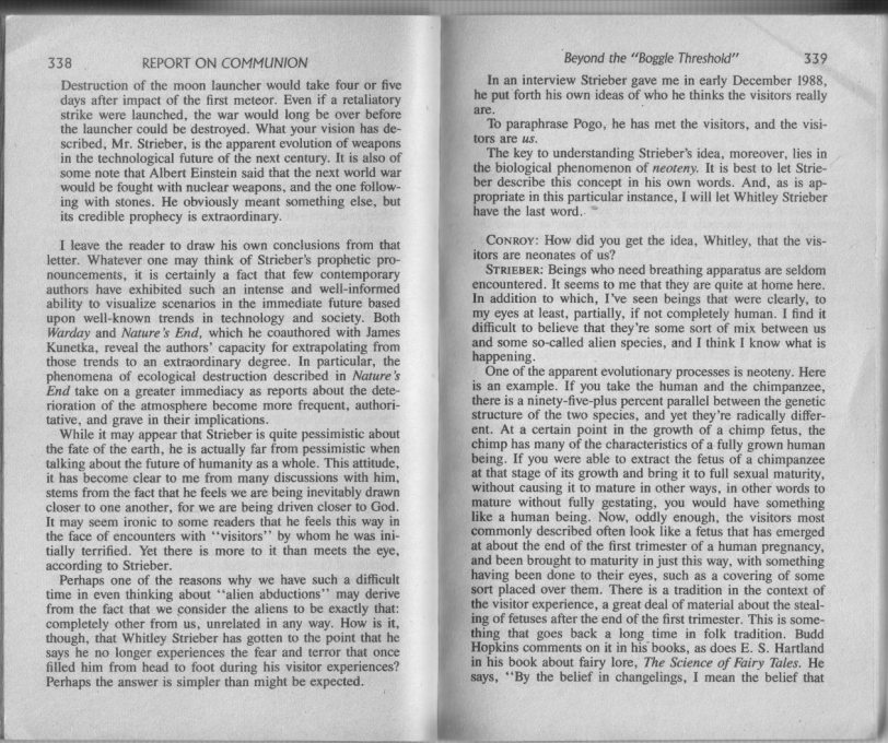 Report on Communion 1
