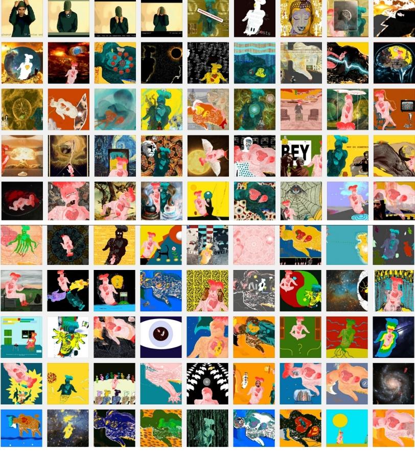 embodiment art collage